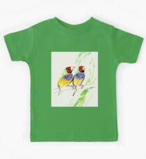 Gouldian Finch Pair Kids Tee
