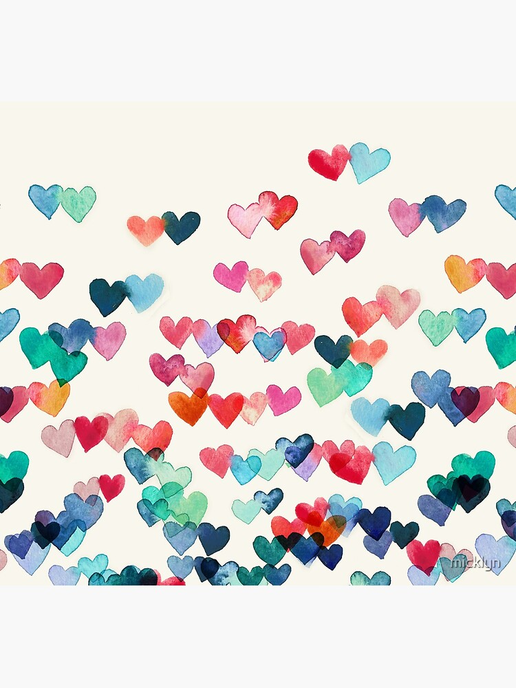 Herz-Verbindungen - Aquarellmalerei von micklyn