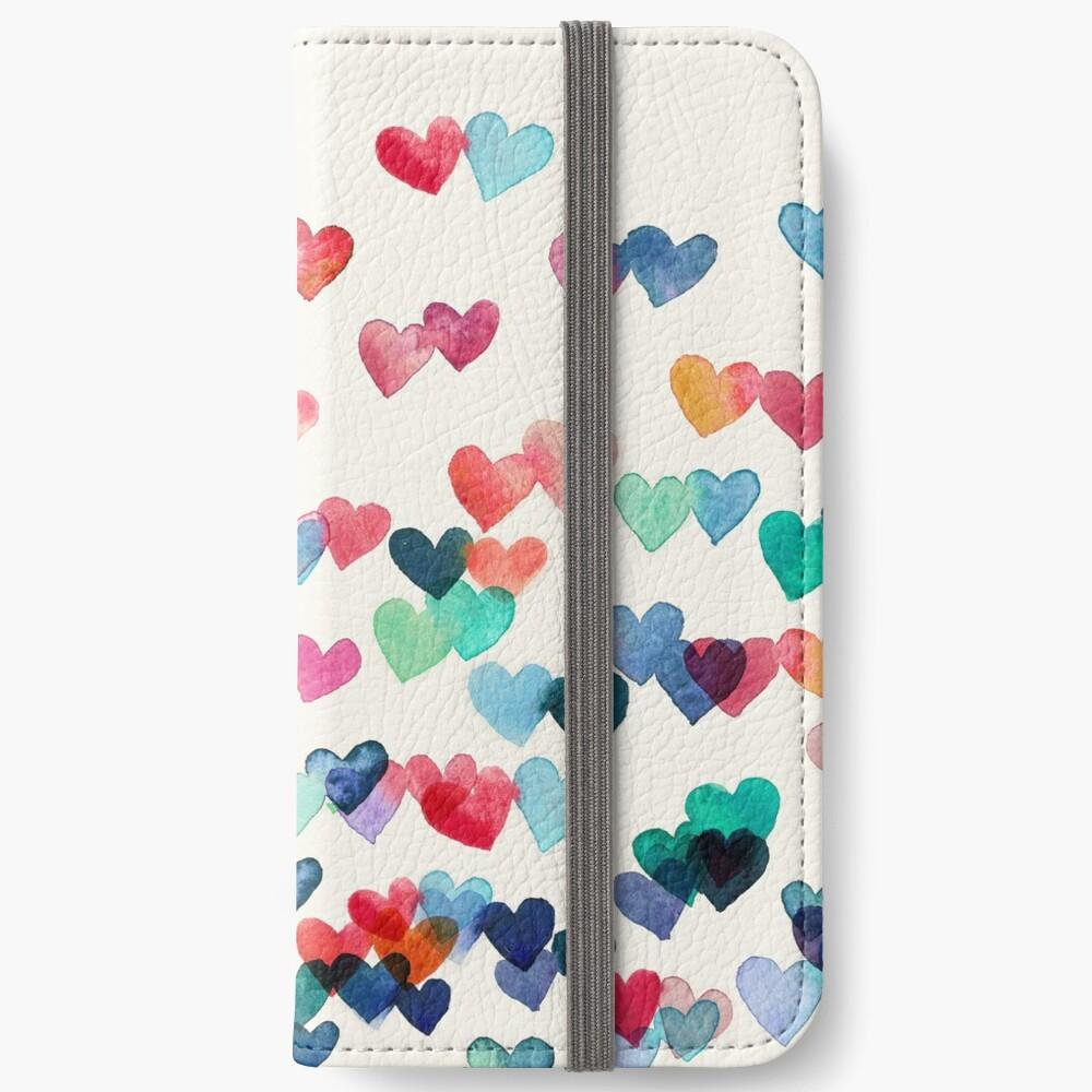 Herz-Verbindungen - Aquarellmalerei iPhone Flip-Case
