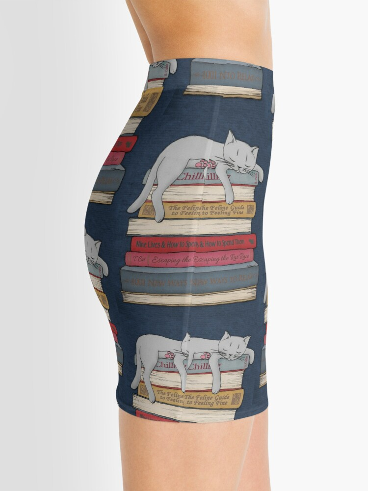 Alternate view of How to Chill Like a Cat Mini Skirt