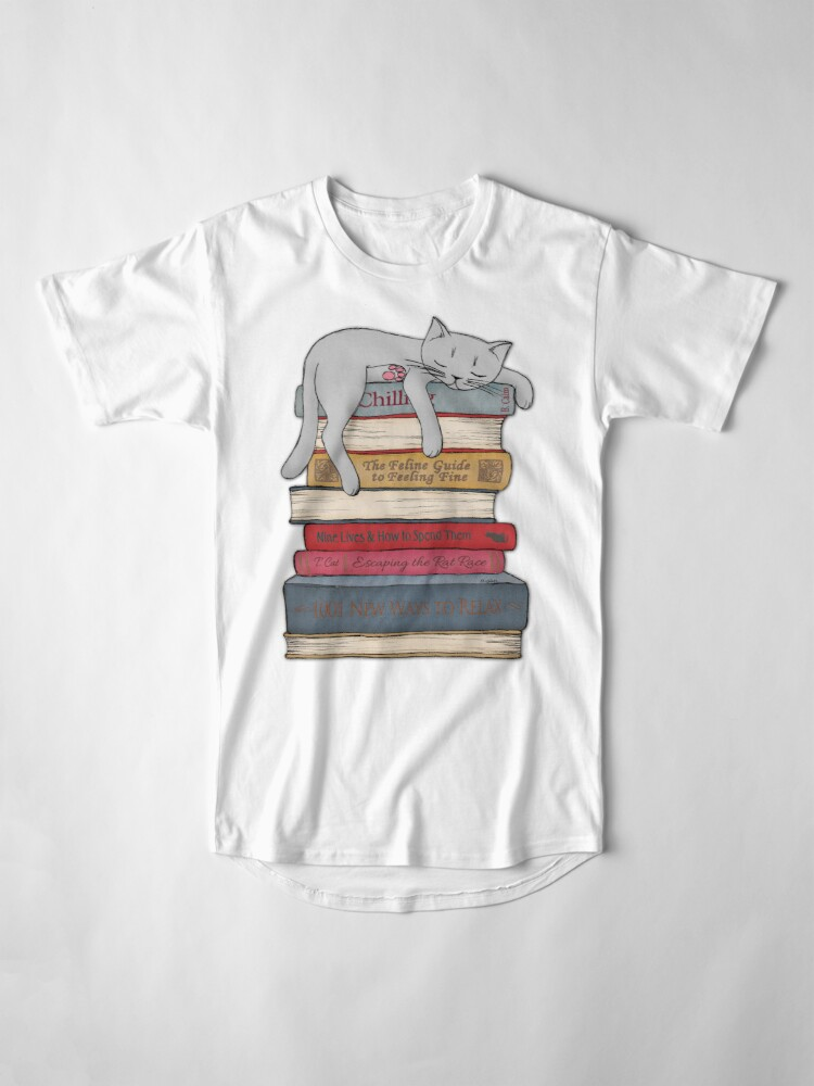 Alternate view of How to Chill Like a Cat Long T-Shirt