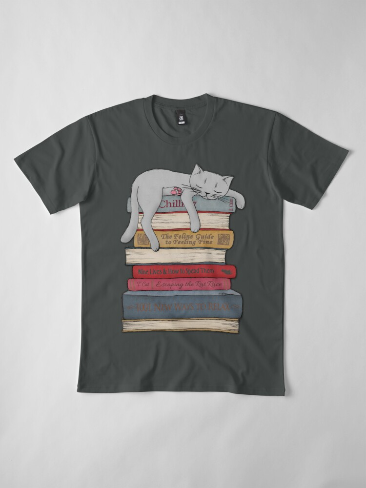 Alternate view of How to Chill Like a Cat Premium T-Shirt