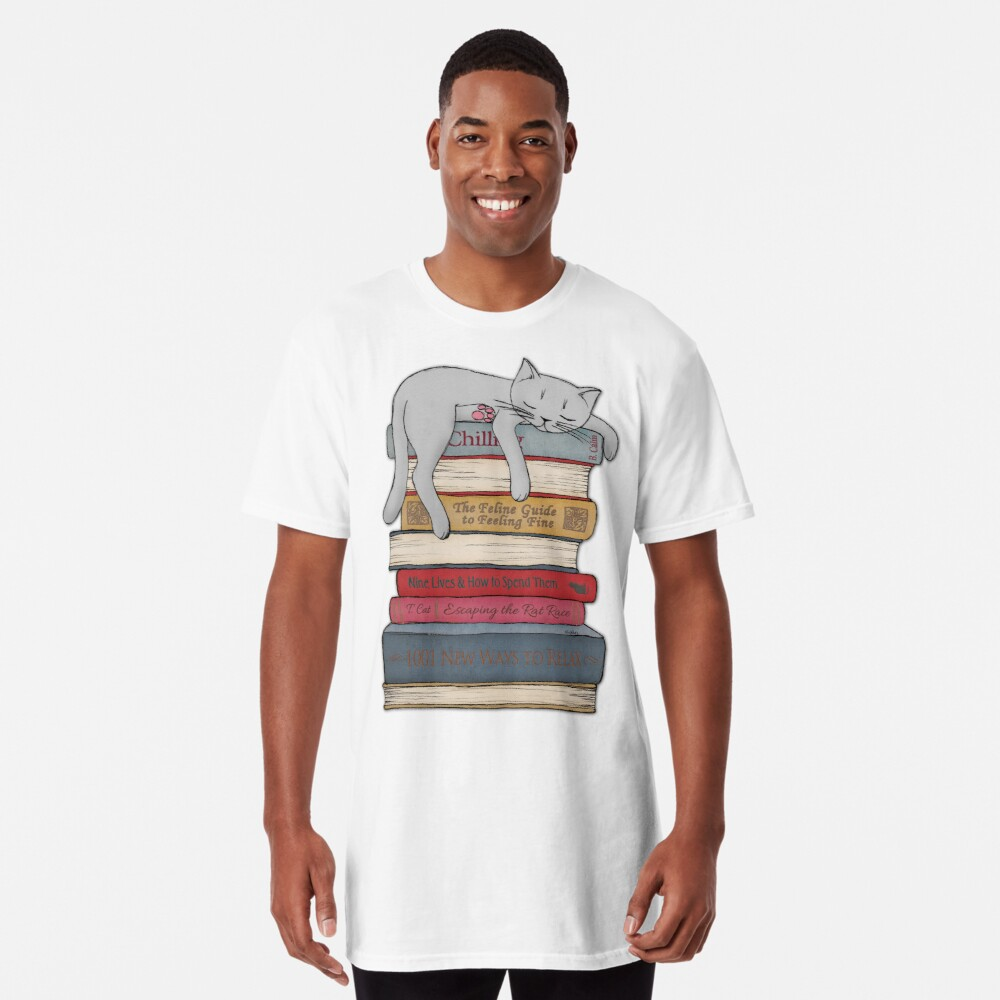 How to Chill Like a Cat Long T-Shirt