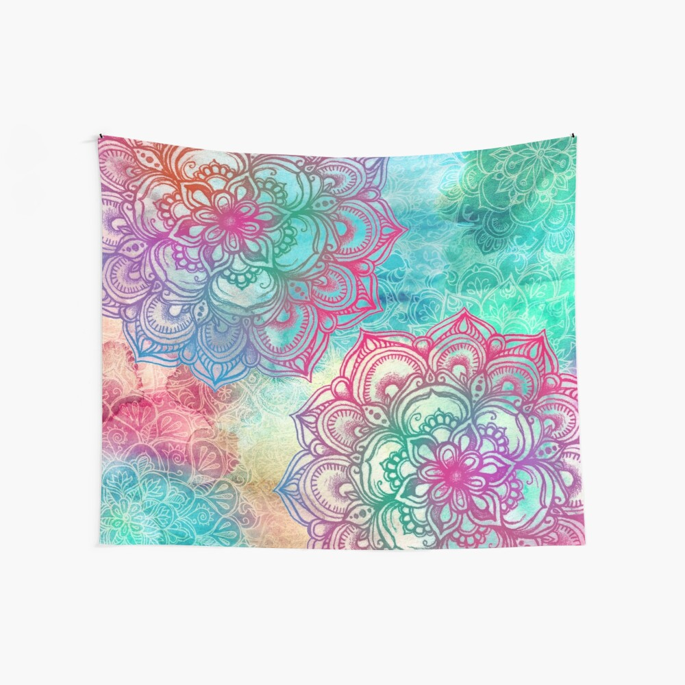 Round and Round the Rainbow Wall Tapestry