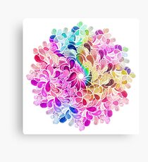 Regenbogen-Aquarell-Paisley-Blume Metallbild