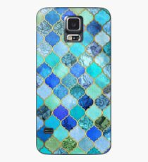 Cobalt Blue, Aqua & Gold Decorative Moroccan Tile Pattern Case/Skin for Samsung Galaxy