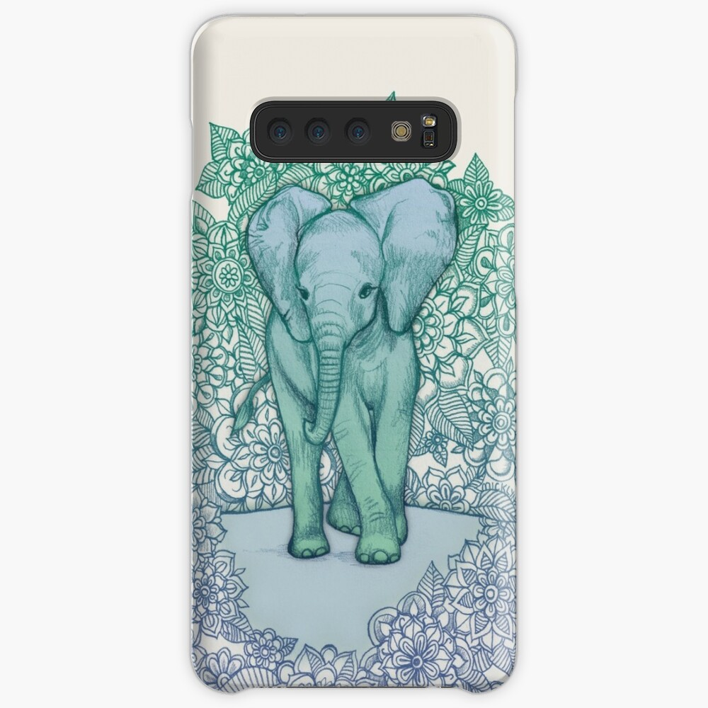 Emerald Elephant in the Lilac Evening Case & Skin for Samsung Galaxy