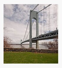 Verrazano Narrows Bridge viewed from Fort Wadsworth on Staten Island. Photographic Print