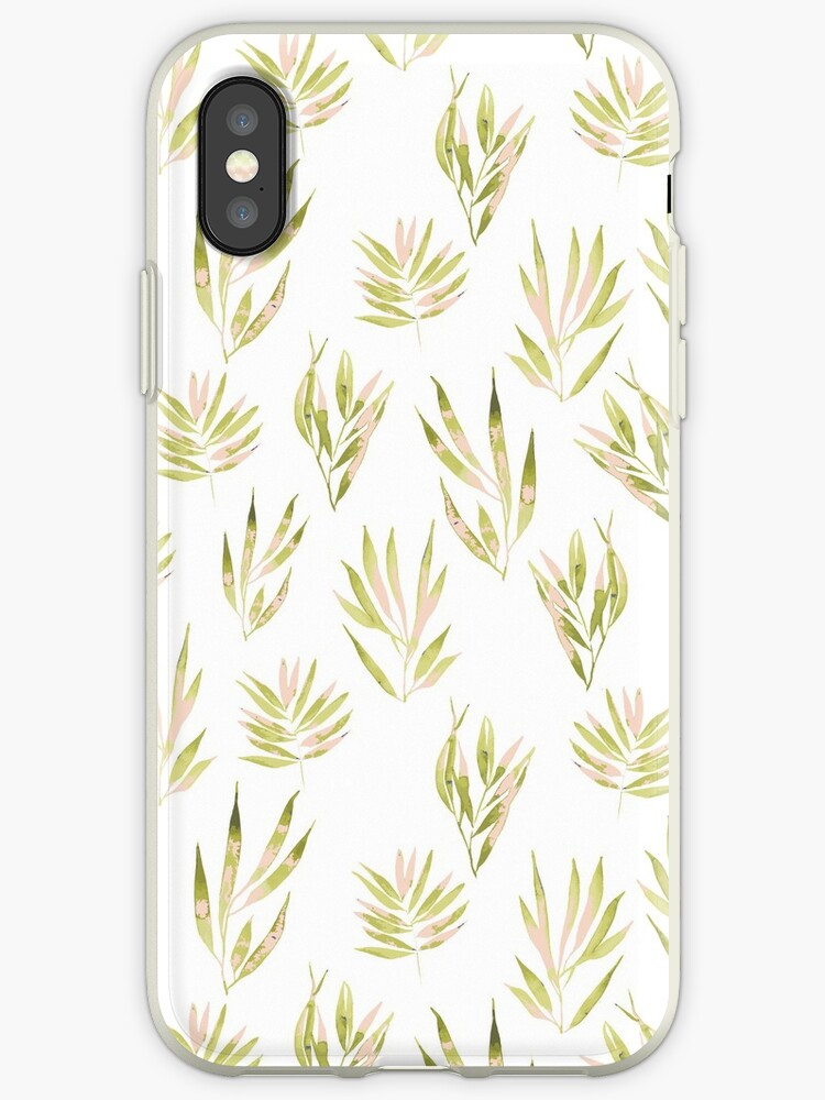 Watercolor leaf painted pattern  by lifeidesign