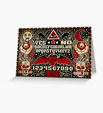 Ouija Board Greeting Card