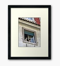 Lisbon Castle Waldorf And Statler Dogs Framed Print