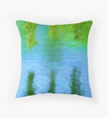 Willow Water Throw Pillow