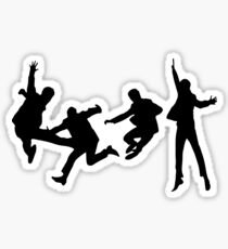 Beatles Silhouette Design  Sticker