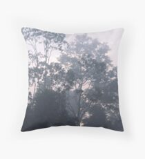 The mysteries of the morning mist Throw Pillow