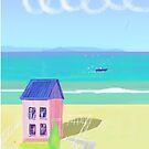 Pink House on the beach by Peter Taylor