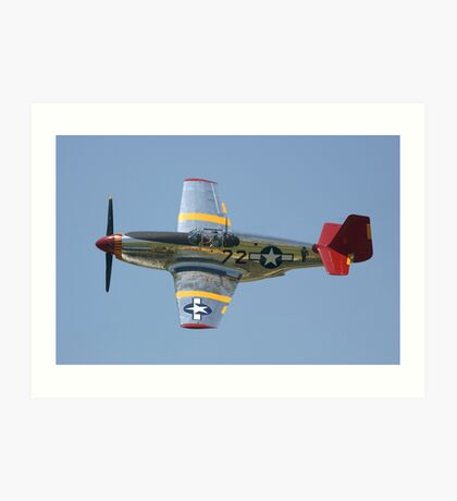 """P51-C Mustang: """"INA The Macon Belle"""" Art Print"""