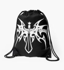The Shadow Empire Somatus White Drawstring Bag