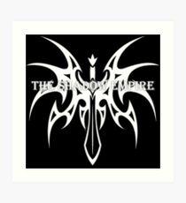 The Shadow Empire Somatus White Art Print