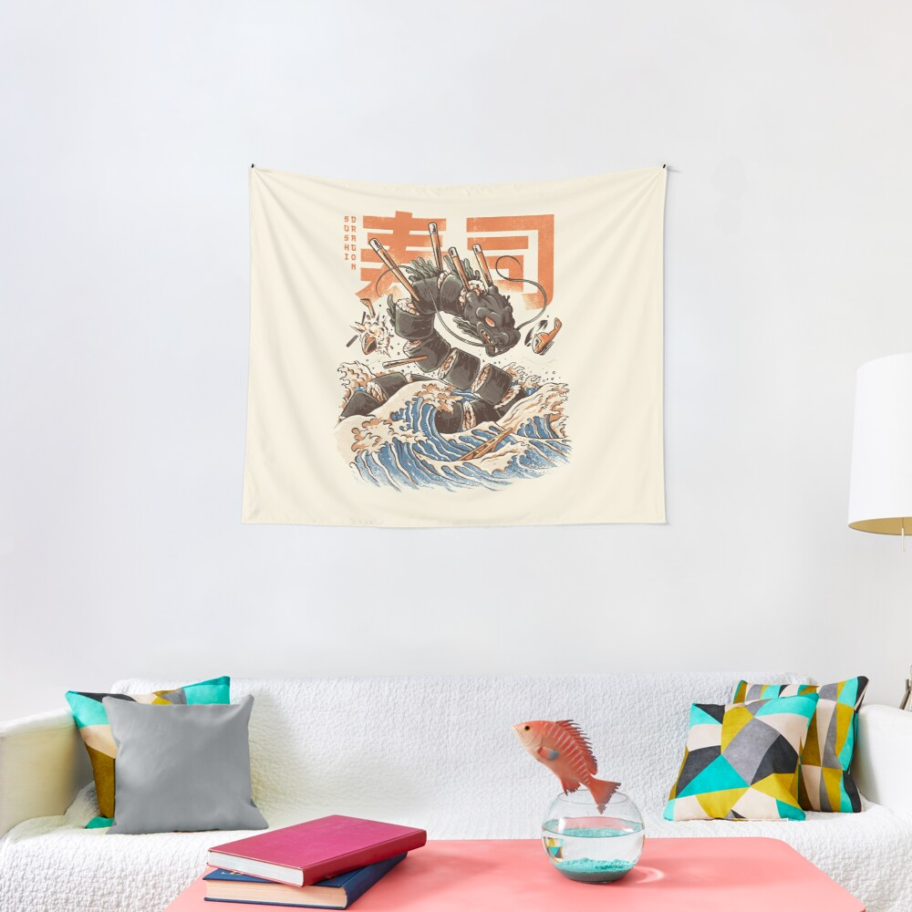 Great Sushi Dragon  Tapestry
