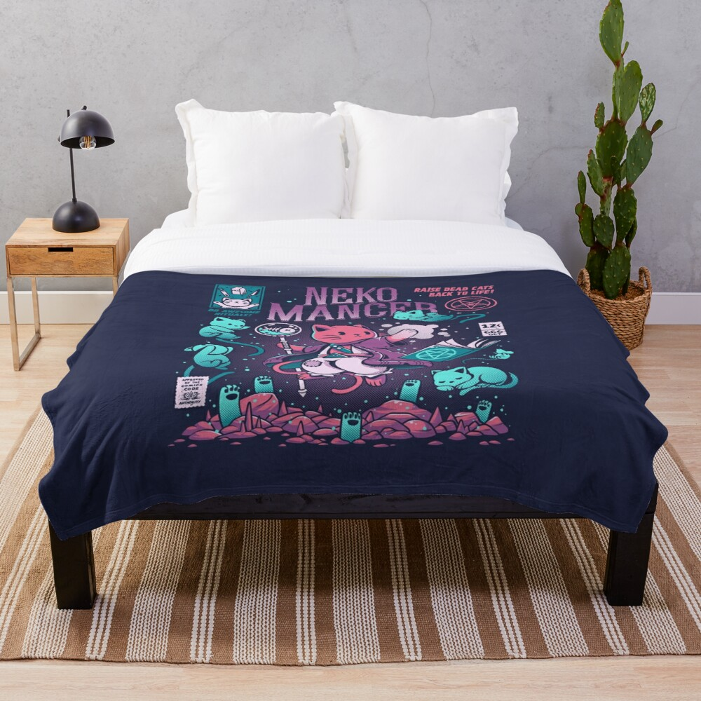 Nekomancer Throw Blanket