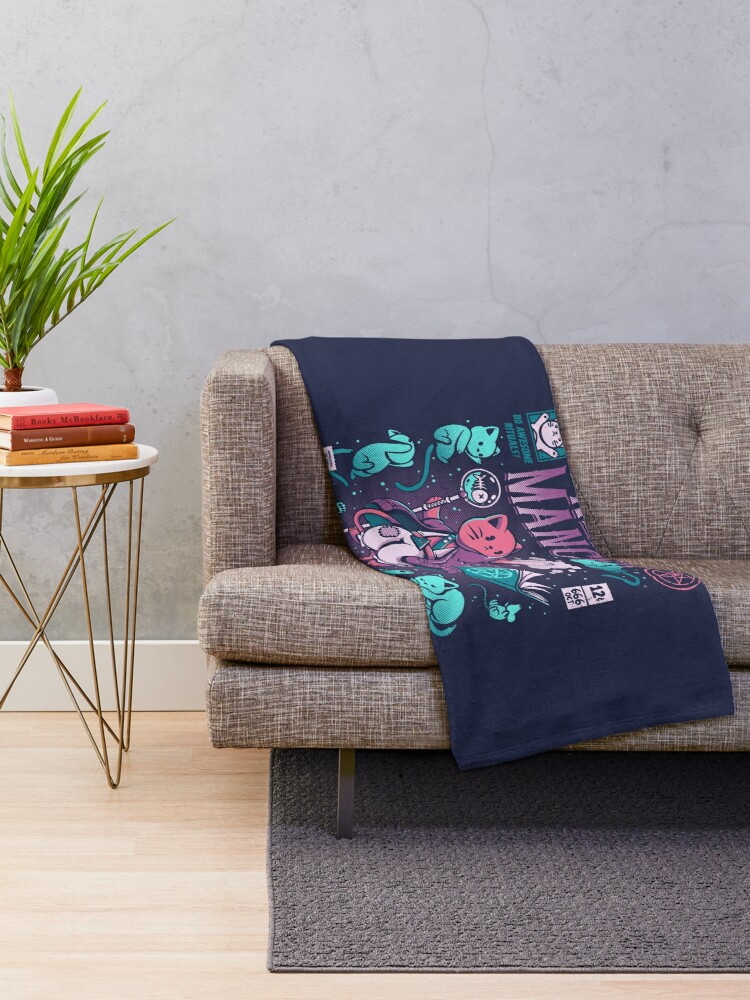 Alternate view of Nekomancer Throw Blanket