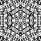 Purple Surreal Pencil Drawing Kaleidoscopic Abstract Design by Jenny Meehan