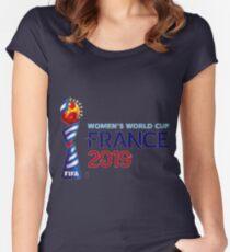 Camiseta entallada de cuello ancho copa mundial femenina 2019