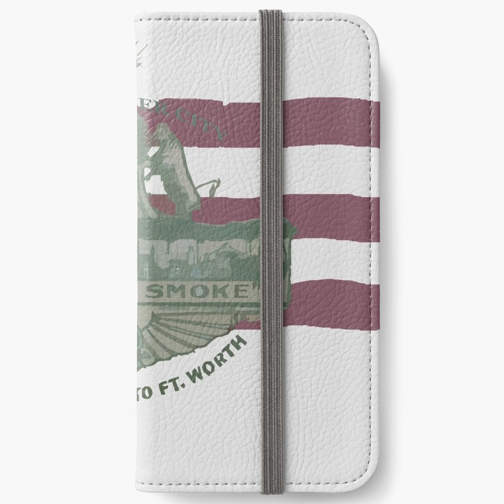 1912 Fort Worth Flag - The Panther City - We're For Smoke - All Roads Lead to Ft. Worth iPhone Wallet
