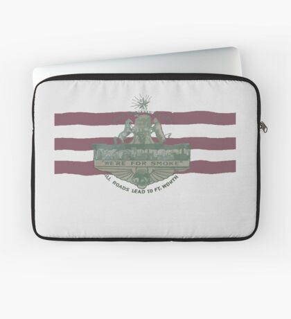 1912 Fort Worth Flag - The Panther City - We're For Smoke - All Roads Lead to Ft. Worth Laptop Sleeve