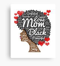 Muttertag Afro Art für schwarze Frauen Leinwanddruck