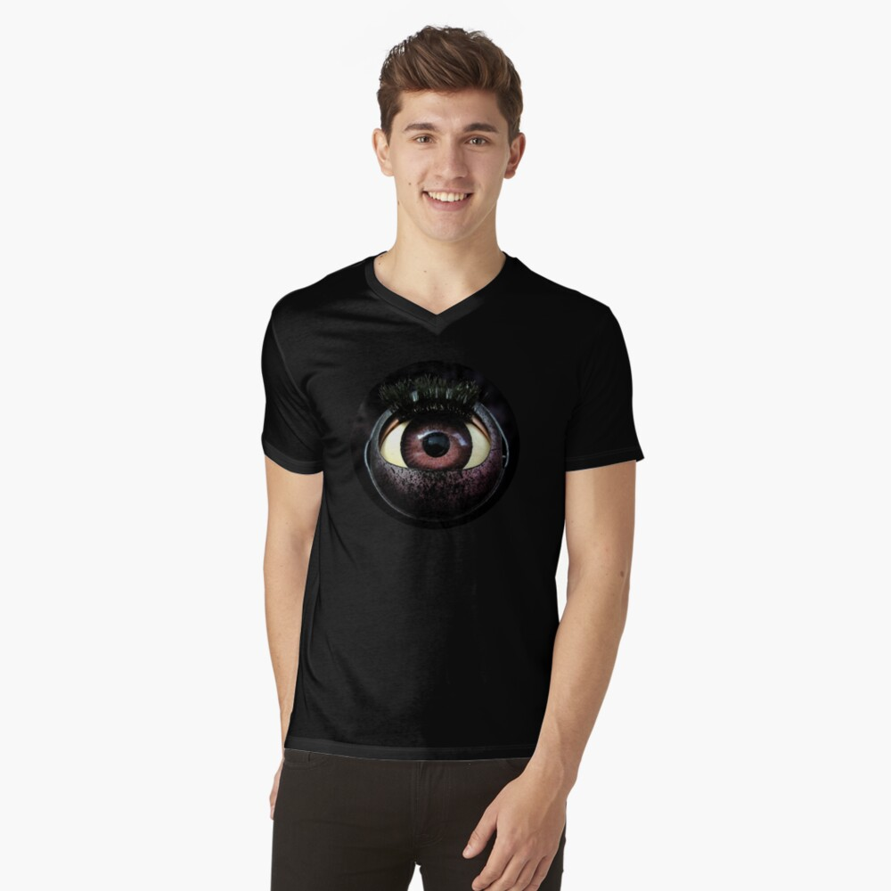 One eyed Robot  Mens V-Neck T-Shirt Front