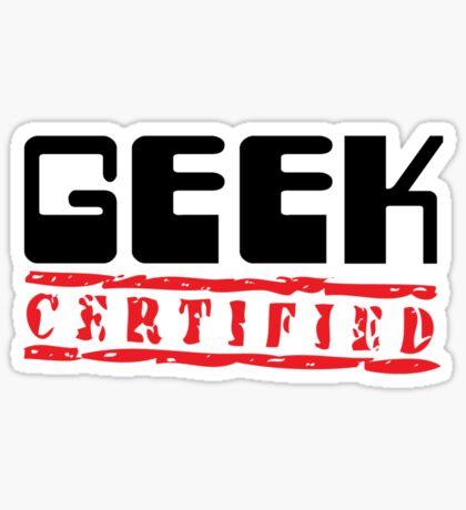 Certified Geek Sticker