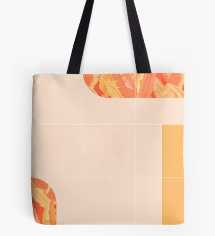 Mid-Century Tropical Orange Mood #redbubble #tropical Tote Bag