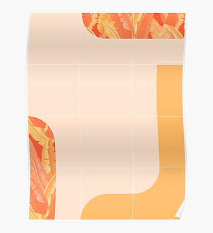 Mid-Century Tropical Orange Mood #redbubble #tropical Poster