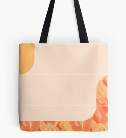 Mid-Century Tropical Orange Way #redbubble #tropical Tote Bag