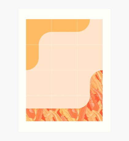 Mid-Century Tropical Orange Way #redbubble #tropical Art Print