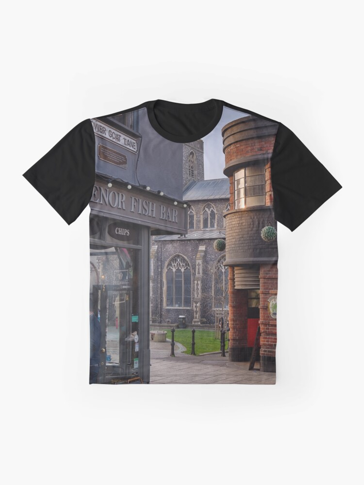 Alternate view of Lower Goat Lane, Norwich Graphic T-Shirt