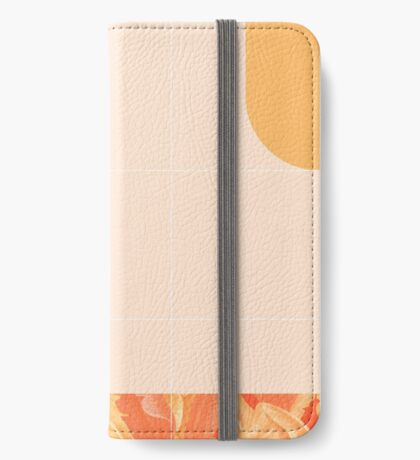 Mid-Century Tropical Orange Style #redbubble #tropical iPhone Wallet