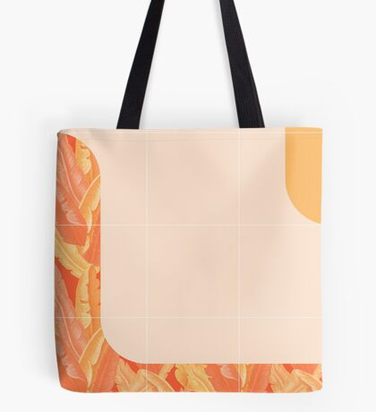 Mid-Century Tropical Orange Style #redbubble #tropical Tote Bag