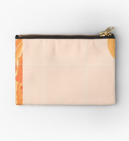 Mid-Century Tropical Orange Style #redbubble #tropical Zipper Pouch