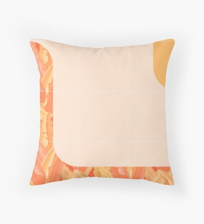 Mid-Century Tropical Orange Style #redbubble #tropical Floor Pillow