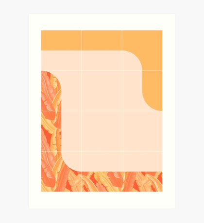 Mid-Century Tropical Orange Style #redbubble #tropical Art Print