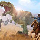 T-Rex and Cowboys by Unicornarama