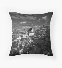 A wiew over Český Krumlov Throw Pillow