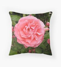Rose in drybrush Throw Pillow