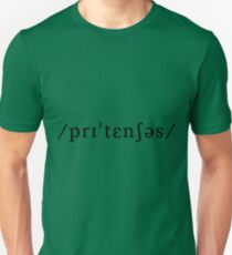 Pretentious as an Underlying Representation Slim Fit T-Shirt