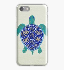Sea Turtle – Navy & Gold iPhone Case/Skin