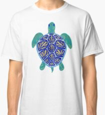 Sea Turtle – Navy & Gold Classic T-Shirt