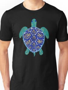 Sea Turtle – Navy & Gold Unisex T-Shirt