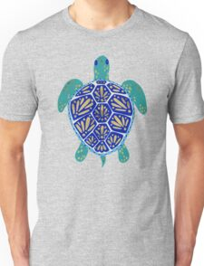 Sea Turtle – Navy & Gold Unisex T-Shirt